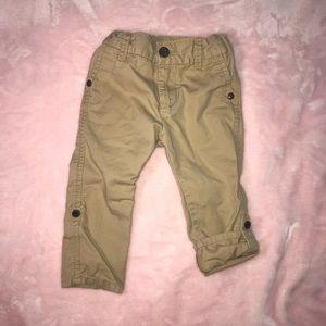 12M OshkoshGirl Roll Tab Khaki Pants